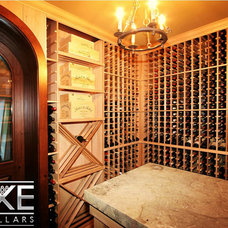 Traditional Wine Cellar by Luxe Wine Cellars
