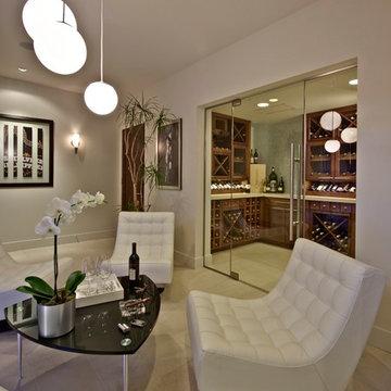 Custom Design - Wine Room - New American Home 2009
