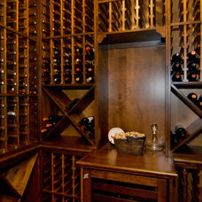 Traditional Wine Cellar by Carpenter Construction, Inc.