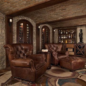 Custom Home Interior Design, Entertaining Area, Wine Room