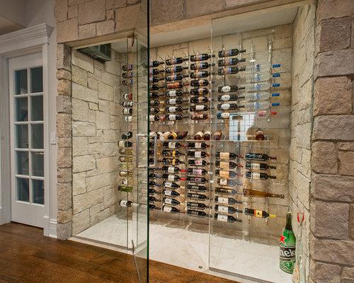 Glass wine cellar houzz for Walk in wine cellars