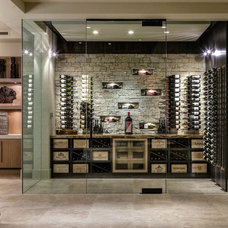 Contemporary Wine Cellar by Blackbird Interiors