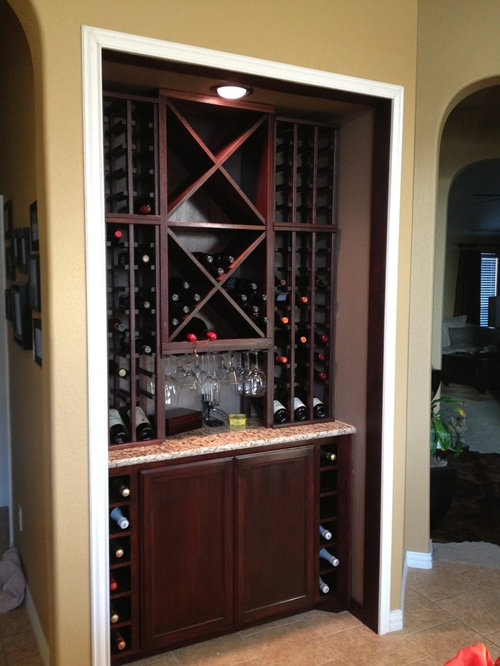 Pantry Converted Into Wine Cellar