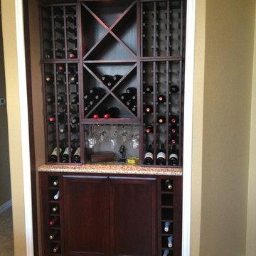 Custom Kitchen Wine Cabinet