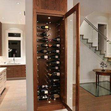 Custom Made, Temperature Controlled, Built - in Wine Rack.