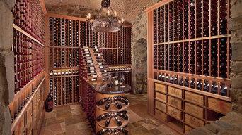Custom Mahogany Wine Cellar in Arizona