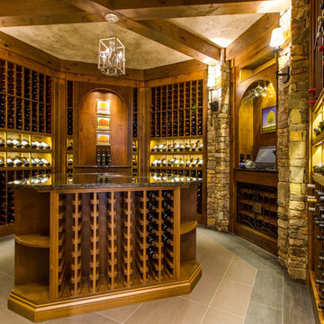 Custom Octagon Wine Cellar