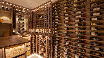 Custom Room Cellar made with Walnut - Cambridge