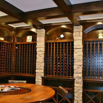 Custom Rustic Alder Wine Cellar