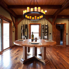 Traditional Wine Cellar by Woodhouse Post & Beam Homes