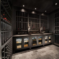 modern wine cellar by Signature Wine Cellars
