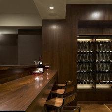 Modern Wine Cellar by cky design, inc.