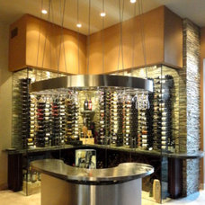 Contemporary Wine Cellar by Desert Wolff