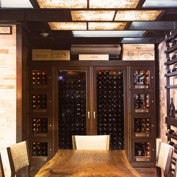 Custom wine cabinet by Vinotemp