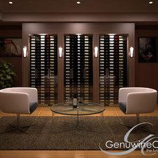 Contemporary Wine Cellar by Genuwine Cellars