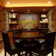 Traditional Wine Cellar by Vigilant Woodworks