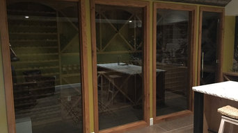 Custom Wine Cellar Doors and Glass