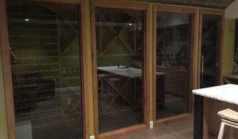 Custom Wine Cellar Doors and Glass