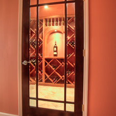 Eclectic Wine Cellar by Joseph and Curtis Custom Wine Cellars