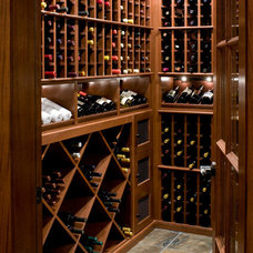 Modern Wine Cellar by Vigilant Woodworks