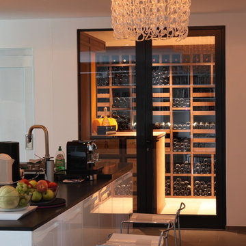 Custom Wine Cellar in Wenge - Luxembourg 2010