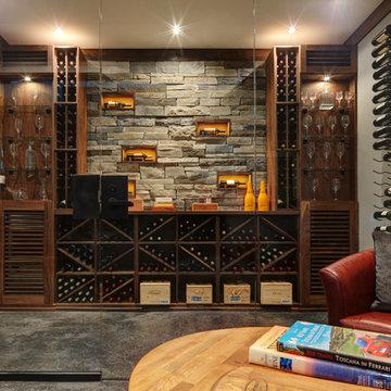 Custom Wine Cellar in White Rock, BC