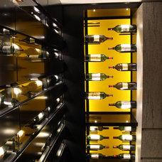 Contemporary Wine Cellar by Degre 12 - Custom Wine Cellars