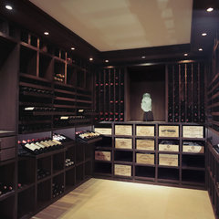 contemporary wine cellar by Degre 12 - Custom Wine Cellars