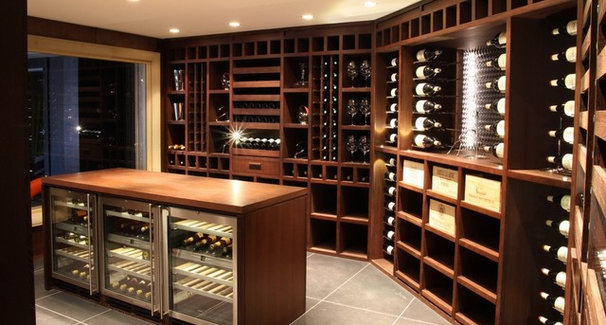 Modern Wine Cellar by Degre 12 - Custom Wine Cellars