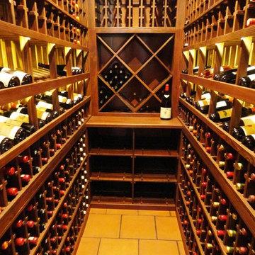 Custom Wine Cellar with Distressed & Weathered Redwood Del Mar San Diego Closet