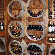 Traditional Wine Cellar by Custom Designed Woodwork, Inc.