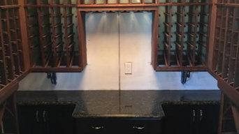 Custom Wine Closet Design and Build