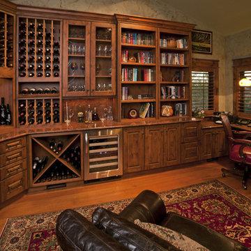 Custom wine room