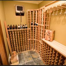 Traditional Wine Cellar by Wine Racks America