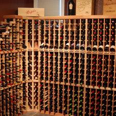 Contemporary Wine Cellar by Wine Racks America