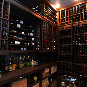 Dallas Custom Residential Wine Room with Ladder and Railing
