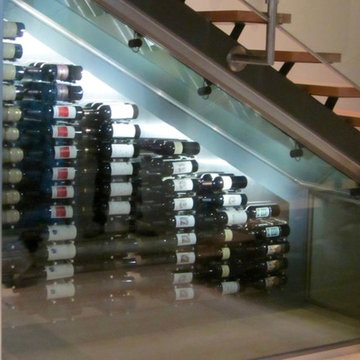 Dallas Master Builders Modern Home Wine Cellar