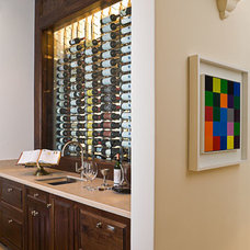 Transitional Wine Cellar by SoJo design