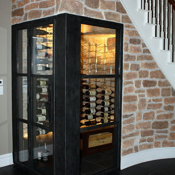 Dallas Wine Cellar Refrigeration Project Under the Stairs