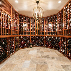 traditional wine cellar by Joseph and Curtis Custom Wine Cellars