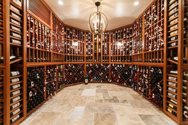 Traditional Wine Cellar by Joseph and Curtis Custom Wine Cellars