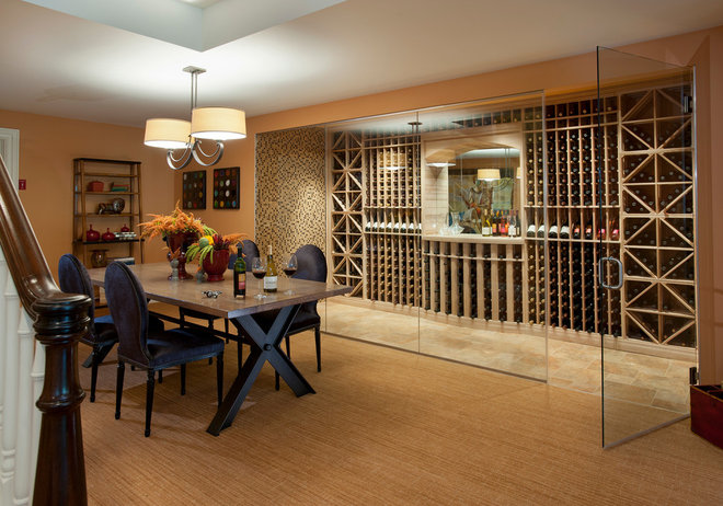Traditional Wine Cellar by WPL Interior Design
