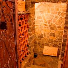 Rustic Wine Cellar by Tynecastle Builders