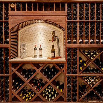 Diamond Bin Storage and Extensive Racking in Deluxe Wine Cellar