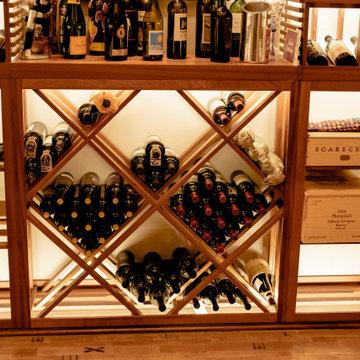 Diamond Wine Storage Bins North Dallas Residential Wine Room