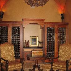 Mediterranean Wine Cellar by Diane Parisian Design LLC