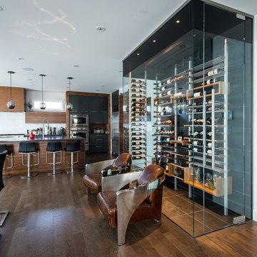 Dining room wine cellars