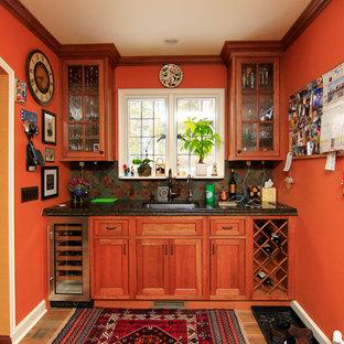 Direct Depot | Medium Stain Shaker Style Inset Kitchen
