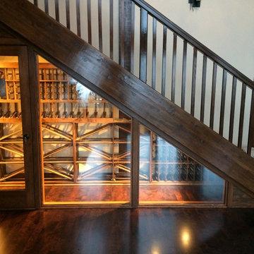 Display Wine Cellar Under Stairs