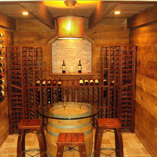 Farmhouse Wine Cellar by Edmund Terrence, LLC